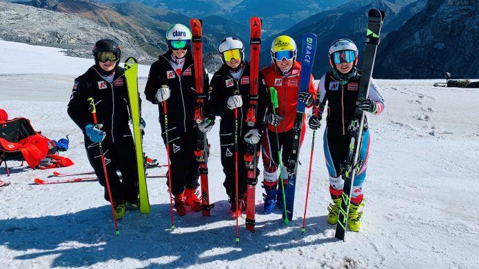 Primo allenamento per le ragazze austriache del super team di velocità: 'Allo Stelvio condizioni ottime'
