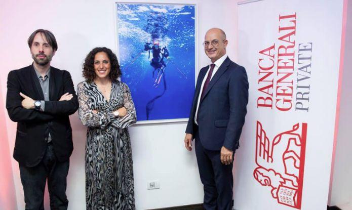 Federica Brignone inaugura a Roma le mostre di 'traiettorie liquide': prossimo appuntamento il 10 giugno a Torino
