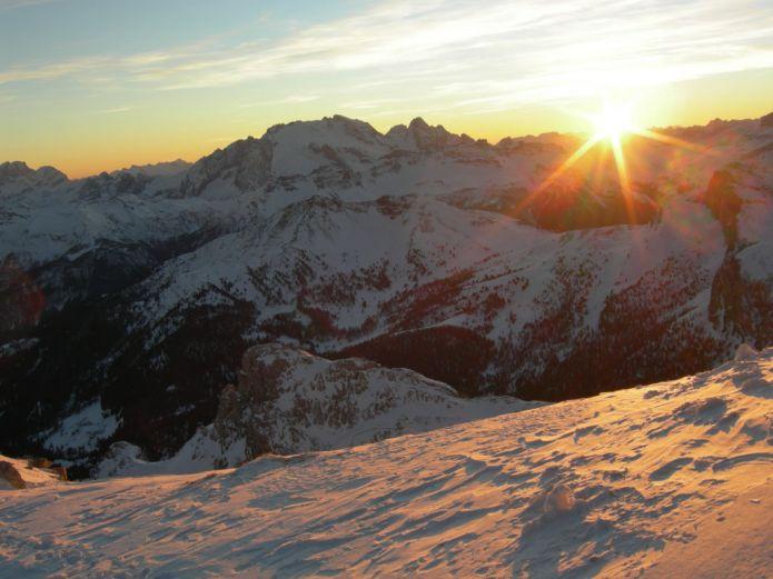 Tramonto al rifugio Lagazuoi 2752 m