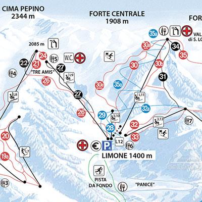 Cartina 1400.Cartina Piste E Impianti Limone