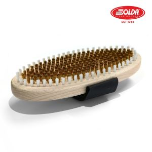 Prezzi Solda oval flat brush - brass & nylon