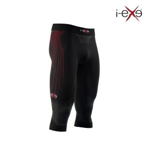 Prezzi Iexe I-Exe - Pants 3/4 - High Performance - Unisex - Black/Red