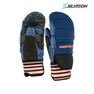 Prezzi Slytech - Race Mittens Fortress D-Lux - Navy/Neon Rust